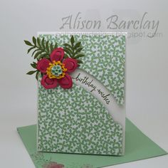 Gothdove Designs - Alison Barclay Stampin' Up! ® Australia : Stampin' Up! Australia - Stampin' Up! Botanical Gardens DSP