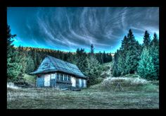 Wooden hut on Pilsko by ballzenator.deviantart.com on @DeviantArt