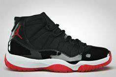 Hot 378037-010 Air Jordan XI Bred Black/Varsity Red-White $119.99 http://www.newjordanstores.com/