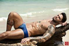 Thuan Ferreira Santos Strips Down for Little Rok Original Swimwear