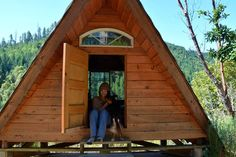"Cabin in Gasquet, United States. A small, rustic, handbuilt cabin deep in the Northern California woods.  Part of a remote, off-grid ""village,"" including a few other cabins, goats, chickens, dogs, cats, permaculture gardens and all kinds of cool, sustainable, DIY infrastructure. ..."