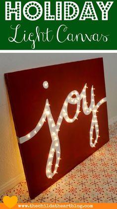 "Holiday ""JOY"" Light Marquis Canvas - Child at Heart Blog"
