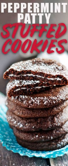 Peppermint Patty Stuffed Cookies