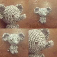 Little amigurumi elephant in grey. It is also available in many colors. Just ask for your favorite color.