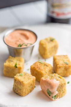 "Tofu ""Chicken"" Nuggets with Sriracha Mayo by thelaidbackvegan #Tofu_Nuggets #Vegan:"