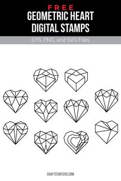 Free geometric heart digital stamps in EPS, PNG (transparent), and SVG formats. Geometric Tattoo Nature, Geometric Tattoo Meaning, Geometric Tattoos Men, Geometric Drawing, Geometric Flower, Geometric Art, Diamond Tattoo Designs, Diamond Tattoos, Tigh Tattoo