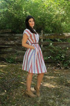 Adorable Floral Stripe VINTAGE 60s Shift Dress by forthebeloved, $25.00
