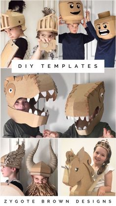 Downloadable DIY templates to make costumes out of cardboard