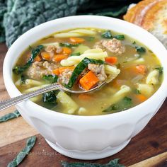 You will love this rustic Tuscan Vegetable Sausage Soup. It's packed with fresh vegetables and herbs; the sausage adds a touch of heat; the wine and Parmesan create a complex flavor in an incredibl…