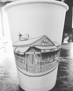 How gorgeous are our illustrated takeaway cups? Sketched by the amazing Tommy K before he left our little Babble family #coffeecup #bespoke #design #illustration #babble #takeawaycoffee #caffeine by babblebarcafe