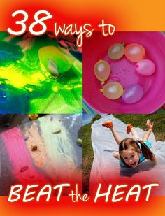 "Beat the heat! Your kids will be ""chillin"" with these 38 cool activities. (via Hands on as we Grow)"