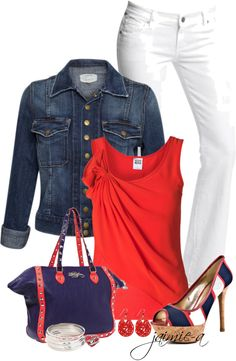"""""""Red, White & Blue 2"""" by jaimie-a on Polyvore"""