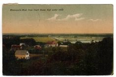 Vintage Minneapolis Kansas Postcard West From Courth House High Waters 1910s Town View