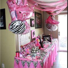 DIY Zebra First Year Banner Pink Zebra Flower Banner Die Cut Kit