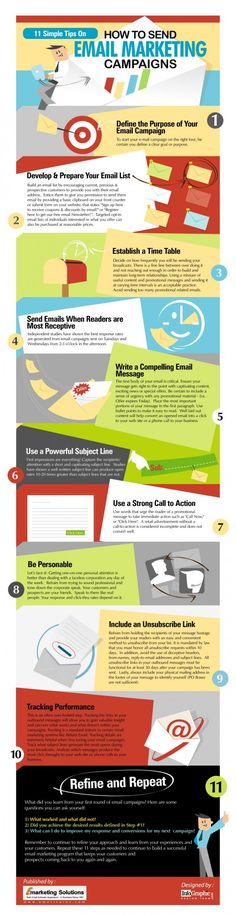 11 simple tips on how to send email marketing campaigns #socialmedia #infographic