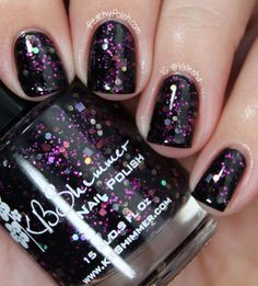 "My color of the week: KBShimmer ""Showgirl""  I love this, but kind of flashy to be more than an accent nail."