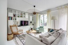 Un salon cosy avec canapé dangle decor pinterest salons