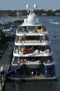 """Fort Lauderdale boat show - 11-02-10. """"Cakewalk,"""" is an impressive 85.6m motor yacht built in 2010 by Derecktor and is the largest U.S. made yacht at the time, since the 1930's."""