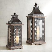 Wood & Pierced Metal Lanterns