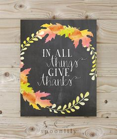 Thanksgiving+Print+Wall+Decor+Art+Print+Home+Decor+by+SpoonLily