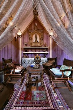 Modern Eclectic Siberian Cottage Meditation Rooms Bohemian Decor House Style
