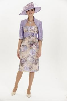 Florentyna Dawn, Mother of the Bride, Special Occasion Wear,John Charles,John Charles Short Blossom Dress and Bolero (FD091)