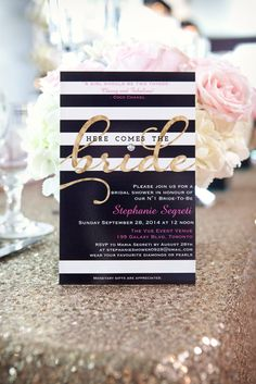 Invitation for a fabulous bridal shower inspired by old Hollywood glamour | Livi Shaw Photography