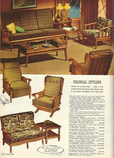 Early AmericanColonial Revival Furniture Vintage 1960s