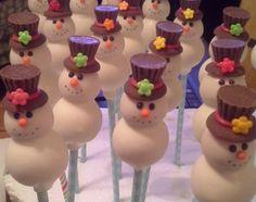 snowmen cake pops                                                       …