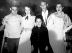 A picture is worth a thousand words...      L-R: George Jones, Mary Klick, Brenda Lee, Mel Tillis and Patsy. Circa 1957.      [Kent Westberry Collection]