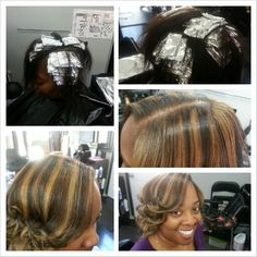 Half head highlight slices #HairbyRonned