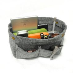 139acb0eaf48 With 8 Pockets Felt Container Cosmetic Bag Organizer by TopHome Bag  Organization, Felt Purse,