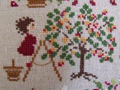 Mon Jardin sur la Toile: Perrette Samouiloff - La récolte des pommes