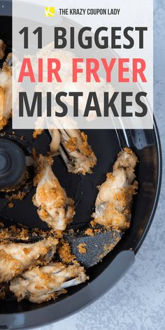 11 Biggest Air Fryer Mistakes to Avoid - Common air fryer mistakes are easy to avoid if you know what to look out for. Learn how to use your - Air Fryer Cooking Times, Cooks Air Fryer, Air Fryer Dinner Recipes, Air Fryer Oven Recipes, Air Fried Food, Air Fryer Fried Chicken, Air Frier Recipes, Air Fryer French Fries, Easy Meals