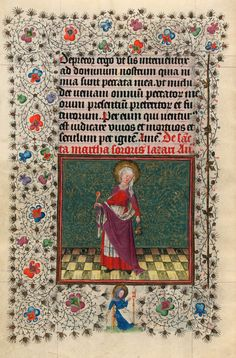 St.Martha   Hours of Catherine of Cleves   Illuminated Manuscript   ca. 1440   The Morgan Library & Museum