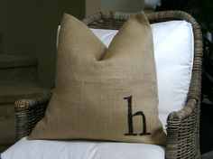 Burlap pillows - eclectic - living room - orange county - by greige/Fluegge Interior Design, Inc.