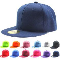 Ajustable hombres mujeres gorra de béisbol sólido Hip Hop sombrero plano del Snapback visera