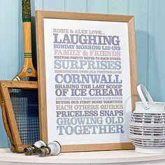 Rosie Robins personalised prints