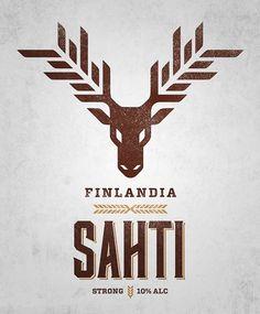 Sahti Beer Label