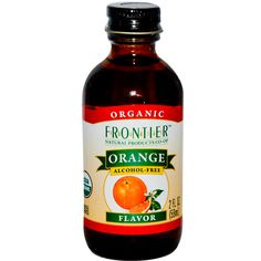 Frontier Natural Products, Organic Orange Flavor, Alcohol-Free, 2 fl oz (59 ml)
