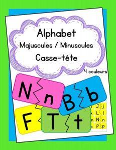 Casse-tête des lettres majuscules et minuscules