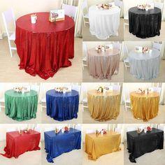Sparkle Sequin Tablecloth Table Cloth Cover For Banquet Wedding Party Decor