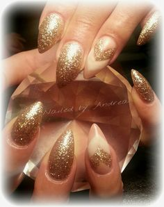 New years nude- gel nails