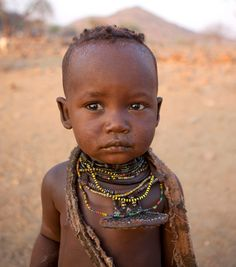 Africa | Himba child.  Okapale area, Namibia | © Eric Lafforgue