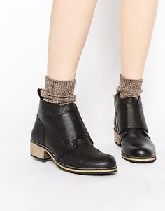 f313e1be747ae Park Lane Simple Flat Leather Ankle Boots Flat Leather Ankle Boots