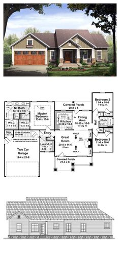 craftsman style cool house plan id: chp-50138 | total living area