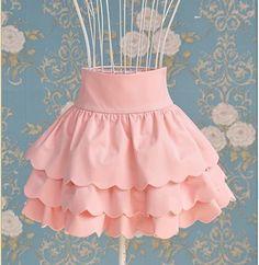 Lady Style Elegance High-Waisted Multi-Layered Design Hem Skirt For Women… Kawaii Fashion, Lolita Fashion, Cute Fashion, Fashion Outfits, Fashion Site, Fashion Styles, Men Fashion, Mode Kawaii, Kawaii Clothes