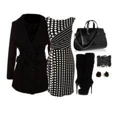 Black and White Winter Outfit for Women