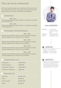 CV créatif et formel