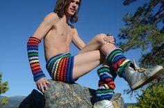 lordvonschmitt crochet legwarmers with shorts
